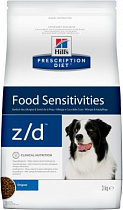 Хиллс для собак 3кг Hill's Prescription Diet z/d Food Sensitivities при пищевой аллергии
